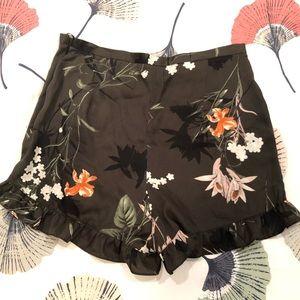 River Island khaki floral shorts, darling ruffle